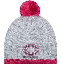 07c13c303eb New Era Women s Chicago Bears Breast Cancer Awareness Knit Hat Men - Sports  Fan Shop By Lids - Macy s