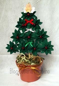 Oiii gente!!! Enfim apareci =) Mas agora venho com várias novidades! Fiz alguns trabalhos com o tema natalino e essa mini árvore é um deles:...