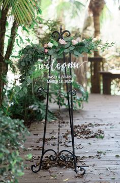 Clear Welcome Sign for Wedding Personalized Painted Sign for