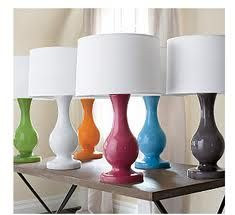 colorful table lamps - Google Search