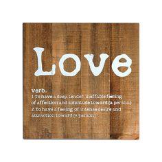 Bild Love Kiefer natur ca B:30 x L:30 cm