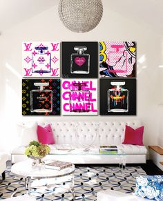 Chanel Chanel Chanel by Shane Bowden Diy Room Decor, Living Room Decor, Home Decor, Cute Room Ideas, Wall Art Wallpaper, Ideas Hogar, Room Goals, Aesthetic Rooms, Bedroom Art