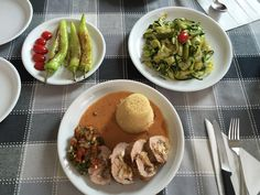 "New recipe-creation: ""Fillet of pork stuffed with goat cheese and dates.with couscous and Zucchini Salad"" by Litsa Spathi, June 11th 2016"