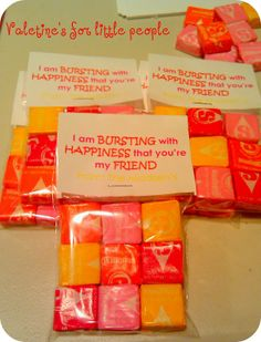 Starburst valentine treat...cool idea might do this this year for kadence.