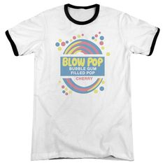 Tootsie Roll - Blow Pop Label Adult Ringer T- Shirt