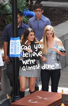 Lea Michele & Heather Morris Are In High Spirits While Filming Glee's Season Finale With No Naya Rivera In Sight!