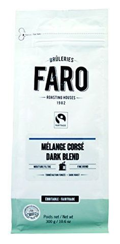 Faro Roasting House Dark Blend Filter Grind Coffee 10oz, Dark Roast Organic and Fair Trade 100% Arabica Coffee With Rich Character - Fresh Ground Coffee (10 Ounce Bag) -- Check out the image by visiting the link.