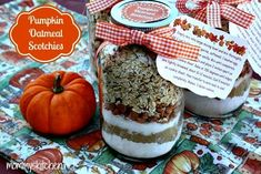 Mommy's Kitchen: Cookie Mix in a Jar {Pumpkin Oatmeal Scotchies}