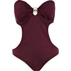 Dark red skull monokini - swimsuits - swimwear / beachwear - women