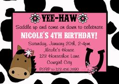 Western Horse Cowgirl Birthday Invitation or by TheTrendyButterfly, $13.00