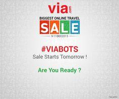 #VIABOTS Sale starts tomorrow