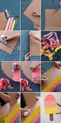 DIY piñata de paleta helada