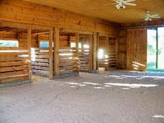 Stables would go for some darker wood but simple and open