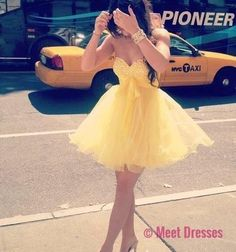 Homecoming Dresses,Yelllow Homecoming Dress,Yelllow Homecoming Dress,Homecoming Dress,Short Prom Dress,Country Homecoming Gowns,Sweet 16 Dress,Simple Homecoming Dress,Casual Parties Gowns PD20183910