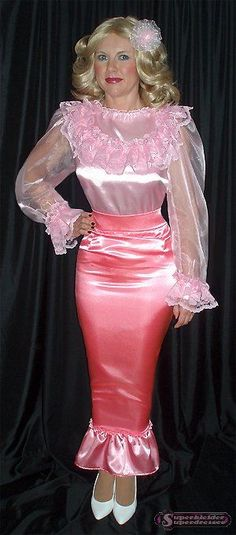 Satin sissy perfection!!!!!