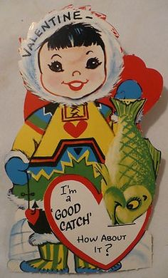 Vintage Valentines, Vintage Holiday, Valentines Day, Ronald Mcdonald, Fish, Winter, Cute, Cards, Holidays