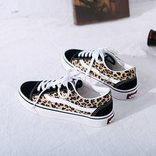 f8c8cd18a Estilo europeo y americano de leopardo de moda Zapatos zapatos de lona  zapatos de mujer zapatos
