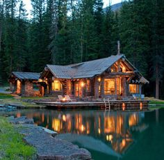 Cozy cabin in the woods…