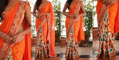 Exclusive Designer Sarees Here is the beautiful designer saree collection.the saree have different models like half and half ,floral printed sarees and shimmer sarees,All these sarees have nice opposite color blouses. These sarees have very elegant and pretty. These are best suitable for party's. To Purchase this product  details below.
