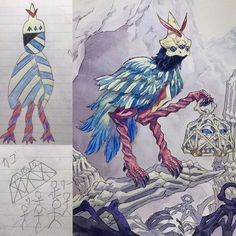 Creative Drawing Dad Turns His Sons' Doodles Into Amazing Drawings - Ftw Gallery - Thomas Romain and his son are an awesome duo! Thomas Romain, Art Thomas, Character Inspiration, Character Art, Character Design, Guy Drawing, Drawing For Kids, Amazing Drawings, Art Drawings