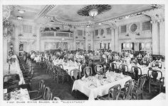 First class dining room on Royal Mail Line's Alcantara--pre WWII