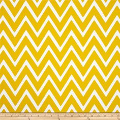 Swavelle/Mill Creek Indoor/Outdoor Zapallar Chevron  Banana from @fabricdotcom  Screen printed on polyester, this fabric holds up to 500 hours of sun