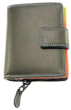 Ladies Versatile Super Soft Real Leather Wallet Purse & Credit Card Holder With Zip Up Coin Purse / Section - Holds 8 Credit Cards - Black & Multi-Colour: Amazon.co.uk: Shoes & Accessories
