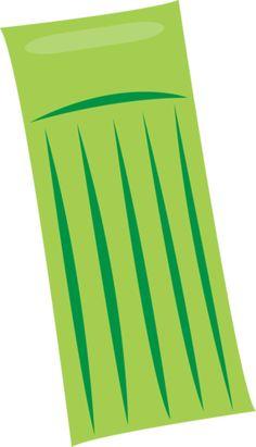 Green air mattress