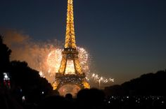 Went to Paris 2012 during Independence Day and I got to see fireworks!  They do it for hours it seemed like.