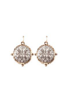 San Benito Coin Earrings//