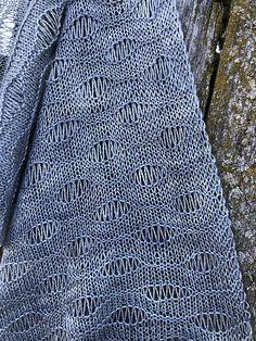 Ravelry: Scarf Shangri La pattern by Inna Voltchkova Long Fringes, Summer Knitting, Shangri La, Needles Sizes, Ocean Waves, Knitting Patterns, Ravelry, Inspiration, Fashion