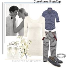 Courthouse Wedding (contest entry), created by chrissy-prager on Polyvore