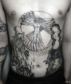 Blackwork tattoo by Oozy. Inked guy