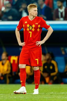 Kevin de Bruyne of Belgium looks on during the 2018 FIFA World Cup Russia Semi Final match between France and Belgium at Saint Petersburg Stadium on. Football Boys, World Football, Manchester City, Cristiano Ronaldo Cr7, Neymar, Robin Photos, Arsenal Premier League, Sergio Aguero, Russia 2018