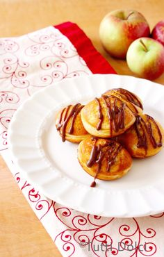 Apple-Chocolate Ebelskivers with Nutella Glaze | Tutti Dolci #chocolateparty