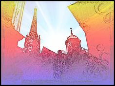 Digital picture take by MushroomBrain of the St StephansDom in the first dsirtict in Vienna Digitally aktered by MushroomBrain More Danny Hennesy . St Stephen's Cathedral Vienna, Saint Stephen, The St, Mixed Media Art, Psychedelic, Louvre, Deviantart, Digital, Pictures
