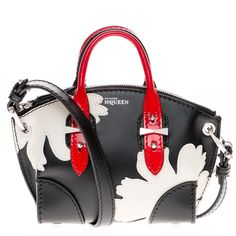 Alexander McQueen Mini Floral Leather Crossbody