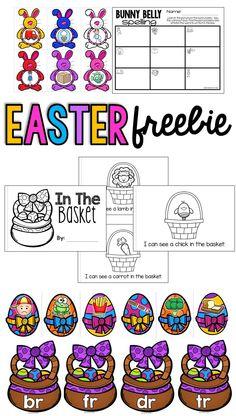Fun Easter Literacy FREEBIE!  Beginning Blends, CVC Words/Beginning Sounds, and an Emergent Reader!