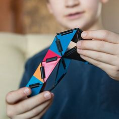 Ivan's Hinge and thousands more of the very best toys at Fat Brain Toys. Fold, loop, bend, twist, and turn to find a solution! Patterned challenge cards invite curiosity, logic & determination, visual spatial skills, brain stimulation, and relaxation. Created by famed puzzle creator Ivan Moscovich, this puzzle is sure to excite!
