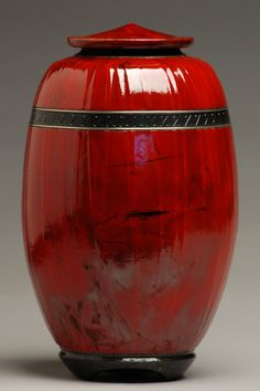 Majestic Red Raku Urn by ElementalUrns