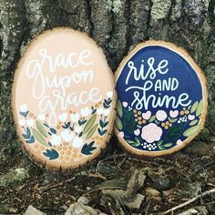 Love how these wood slices are just chillin' in their natural habitat! They are absolutely beautiful! #woodslice #handmade #makersmovement