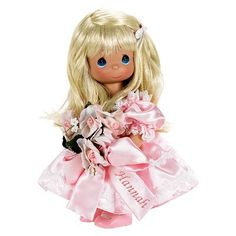Name your own doll, blonde hair.