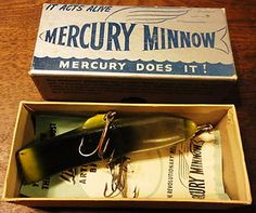 VINTAGE FISHING LURE IN THE BOX - MERCURY MINNOW