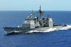 Ticonderoga-class guided-missile cruiser USS Cape St. George (CG 71)