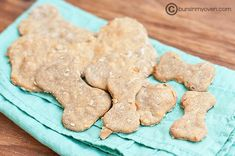 peanut butter banana dog treats:  super easy, the boys love them, and the parsley makes their breath nice! (i used fresh instead of dried)