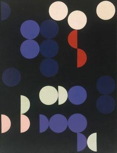Meter box cover//  Composition with Circles and Semi-Circles (1935) by Sophie Taeuber-Arp