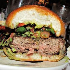 Inside the Mexican Burger at Jalapeno on the Upper West Side
