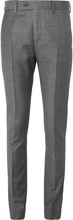 $280, Grey Wool Dress Pants: Acne Studios Grey Drifter Slim Fit Wool Suit Trousers. Sold by MR PORTER. Click for more info: http://lookastic.com/men/shop_items/32215/redirect