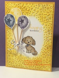 Happy Birthday, Stampin' Up! Bella and Friends, Confetti embossing folder, Perpetual Birthday Calendar, Endless Birthday Wishes, Balloon Builders, Elegant Eggplant, Crushed Curry, Night of Navy, Soft Suede.