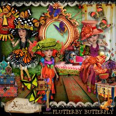 Whimsy - 'Flutterby Butterfly' kit